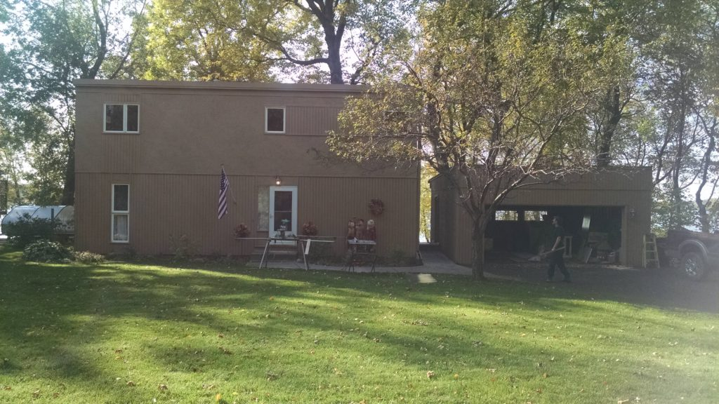 Dayton MN Exterior Remodel Before & After - Before - Spotless & Seamless Exteriors